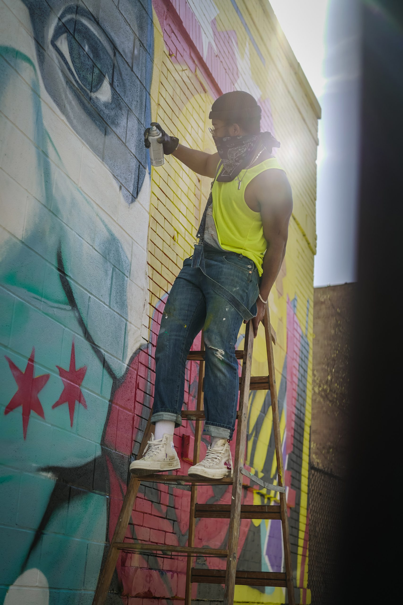 Murals For Medical Relief Mural in Chicago by Dwight White II