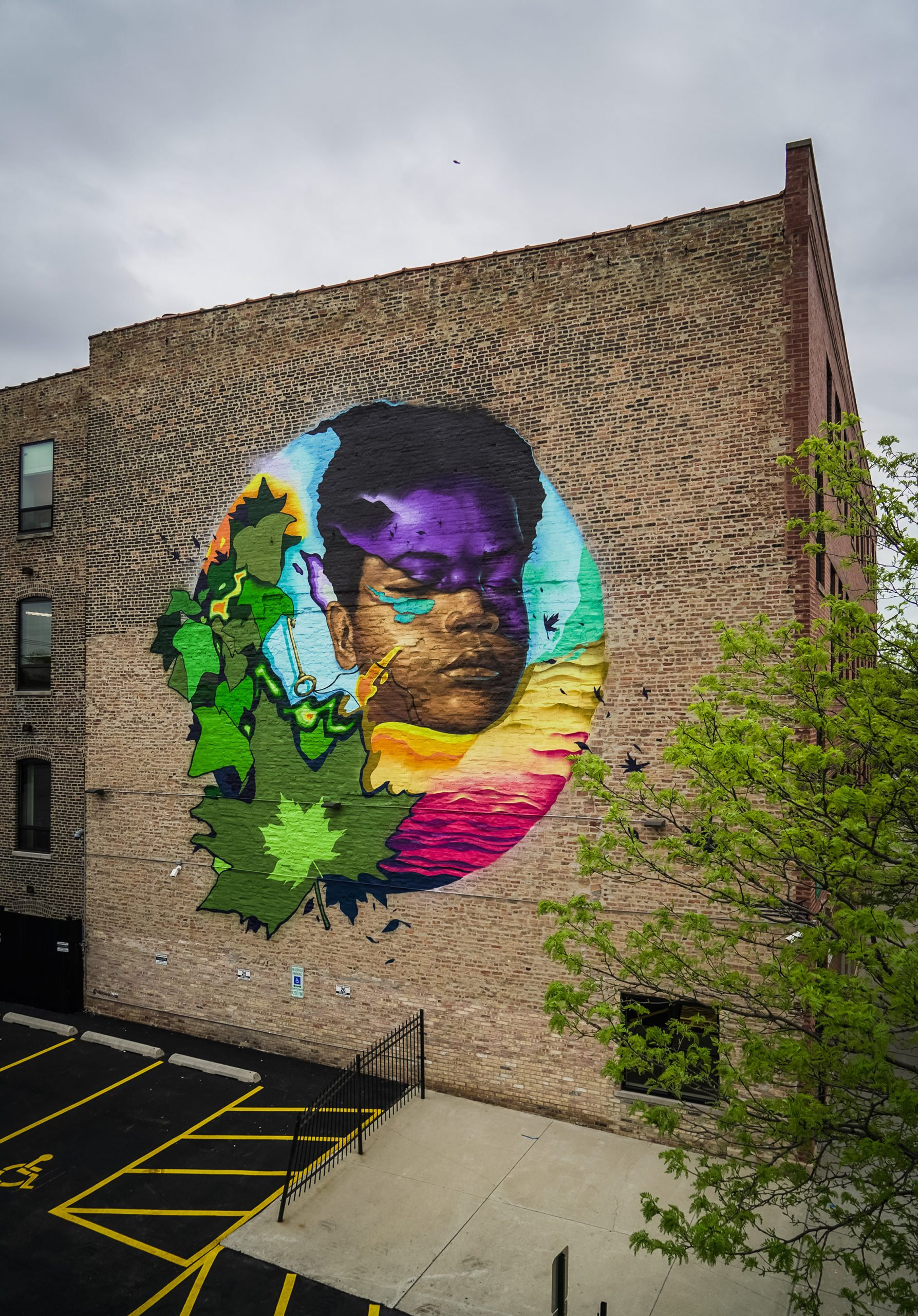 Murals For Medical Relief Mural in Chicago by Max Sansing