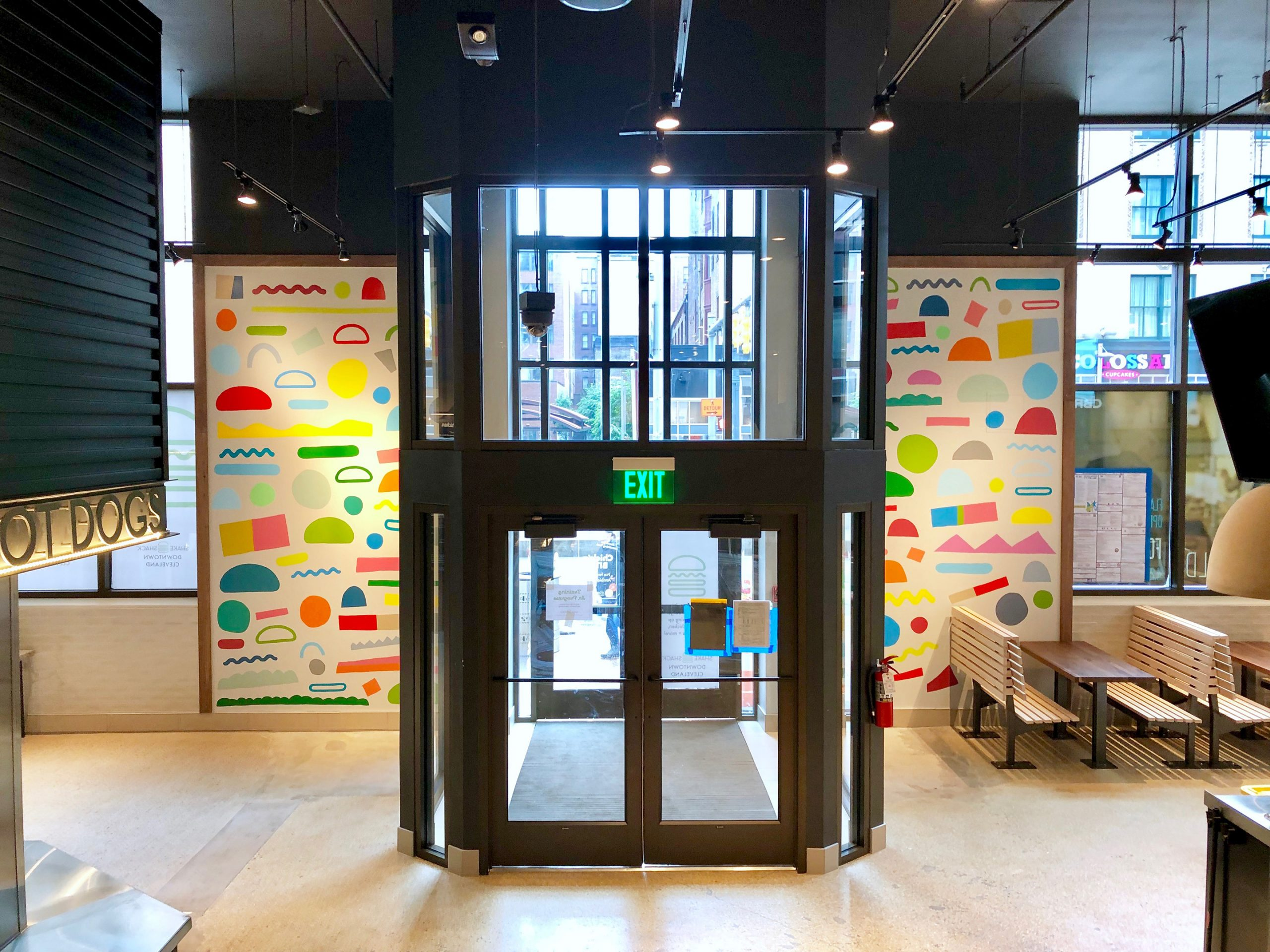 Shake Shack Cleveland Mural by