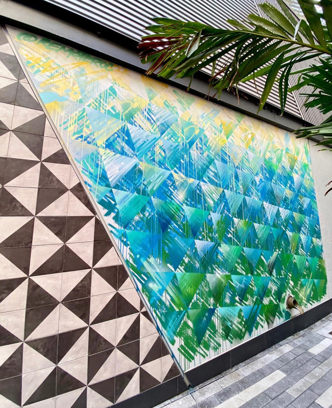Shake Shack Mary Brickell Mural by Jay Bellicchi