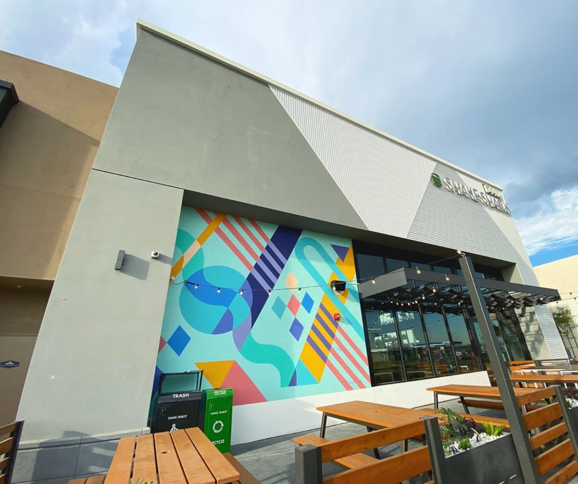 Shake Shack Long Beach Mural